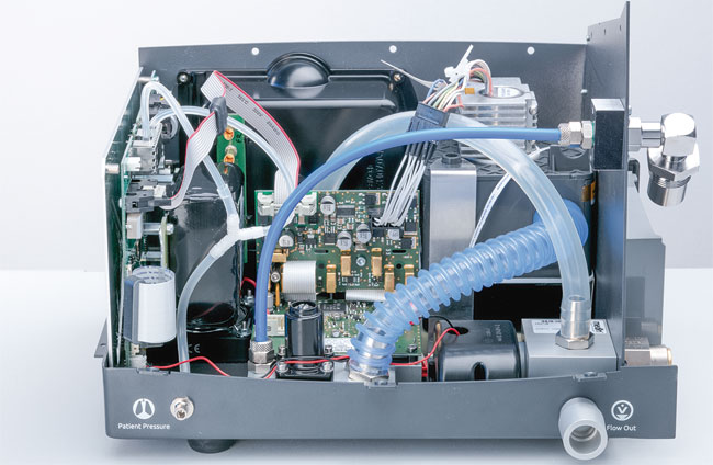 Einheit aus Ventilen, Sensoren und Elektronik